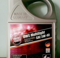 OWS Multilight SAE 5W-40 (4 ლიტრი)